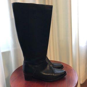 Regence Canada Tall Black Leather Boots - 8 Narrow